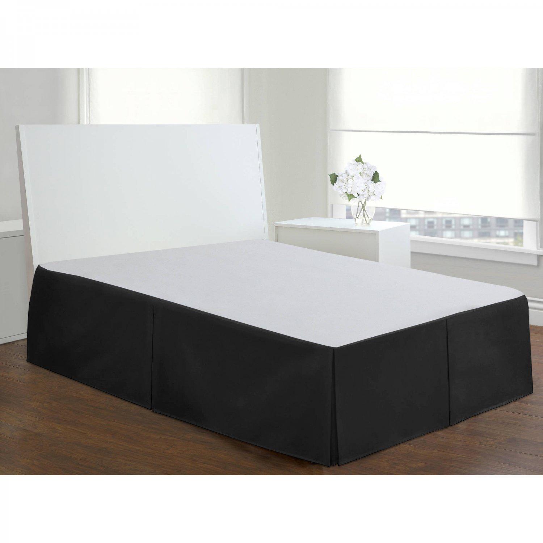 Velvet Bed Skirt King Size 18 Drop Box Pleated Sheen