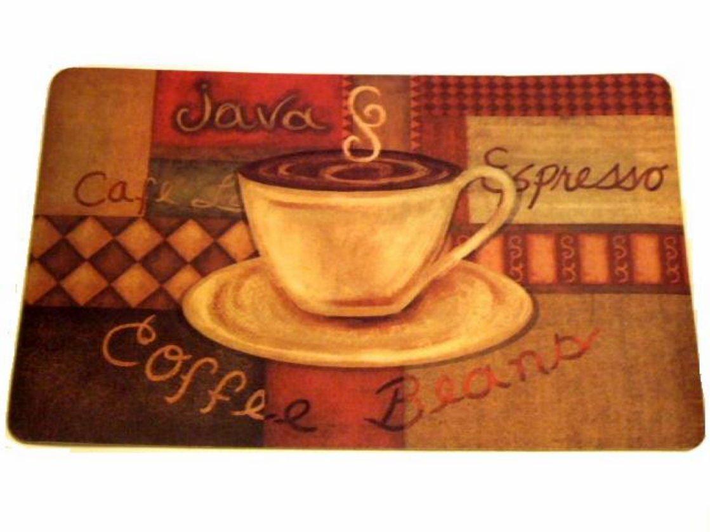 coffee kitchen rugs counter resurfacing themed rug espresso latte cushion mat