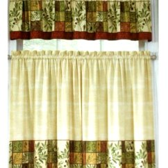 Kitchen Curtain Sets Country Decor Tuscan Olives Herbs Curtains Set