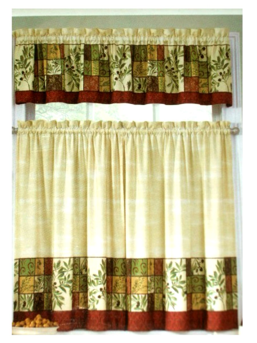 kitchen curtain sets best appliance package tuscan olives herbs curtains set