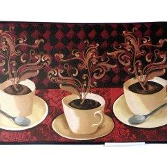Coffee Kitchen Rugs German Cabinets Cups Memory Foam Rug