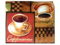 Tapestry Coffee Themed Table Runner Espresso Cappuccino ...