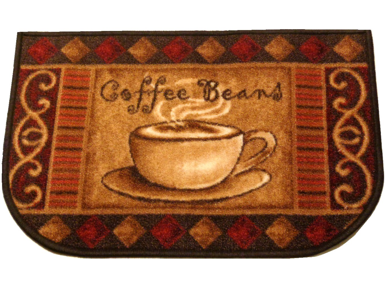 coffee kitchen rugs aid dish rack cup rug beans mat