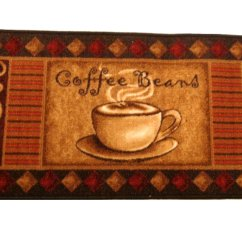 Coffee Kitchen Rugs Cabinets Plans Themed Rug