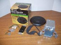 Hubbell Raco 6239bk Black Concealed Receptacle Floor Box ...