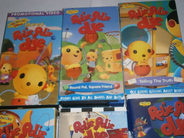 6 Used Rolie Polie Olie Vhs Tapes Animated Videos Playhouse Disney Collection Set Lot