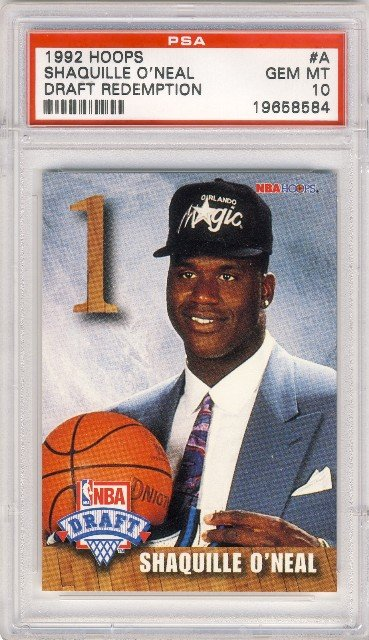 1992 SHAQUILLE ONEAL Hoops Draft Redemption Rookie A PSA