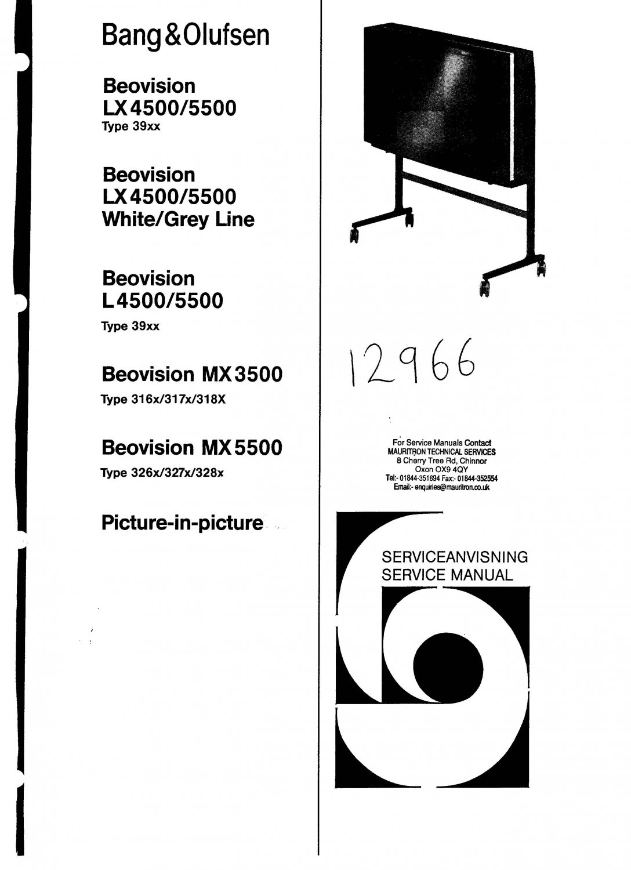 Bang & Olufsen Beovision Lx5500 Grey Line. Service Manual