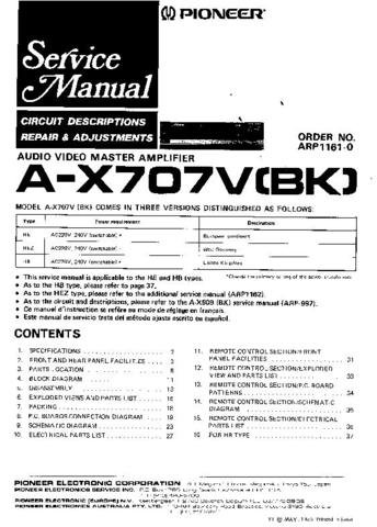 PIONEER ARP1161-0 Service Manual by download #91974
