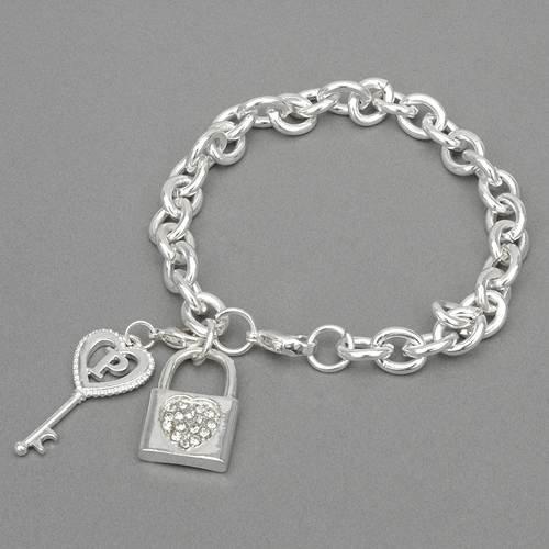 Lock and Key Crystal Bracelet from Universal Language (TM)