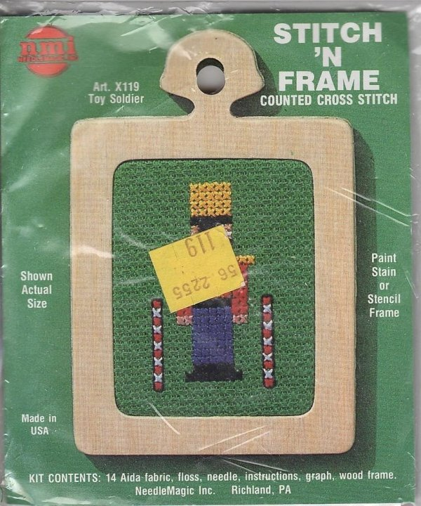 Nmi Needlemagic Stitch ' Frame Toy Soldier Counted Cross