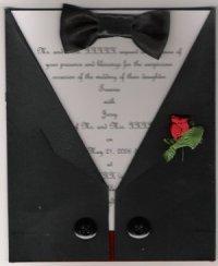 Black Tie Affair Wedding Invitation Set
