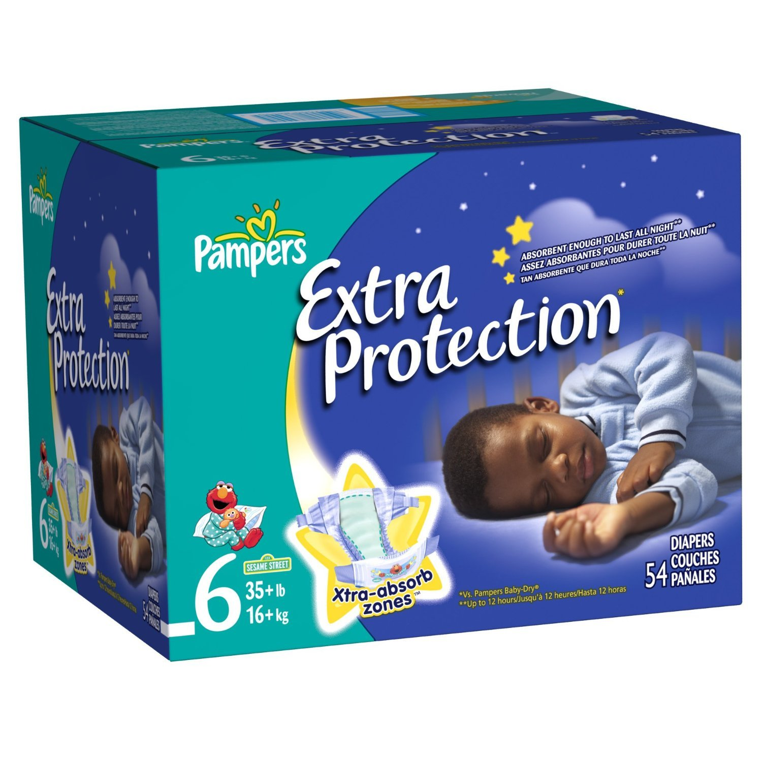Pampers Baby Dry Extra Protection Diapers Size 6 - 54 ...