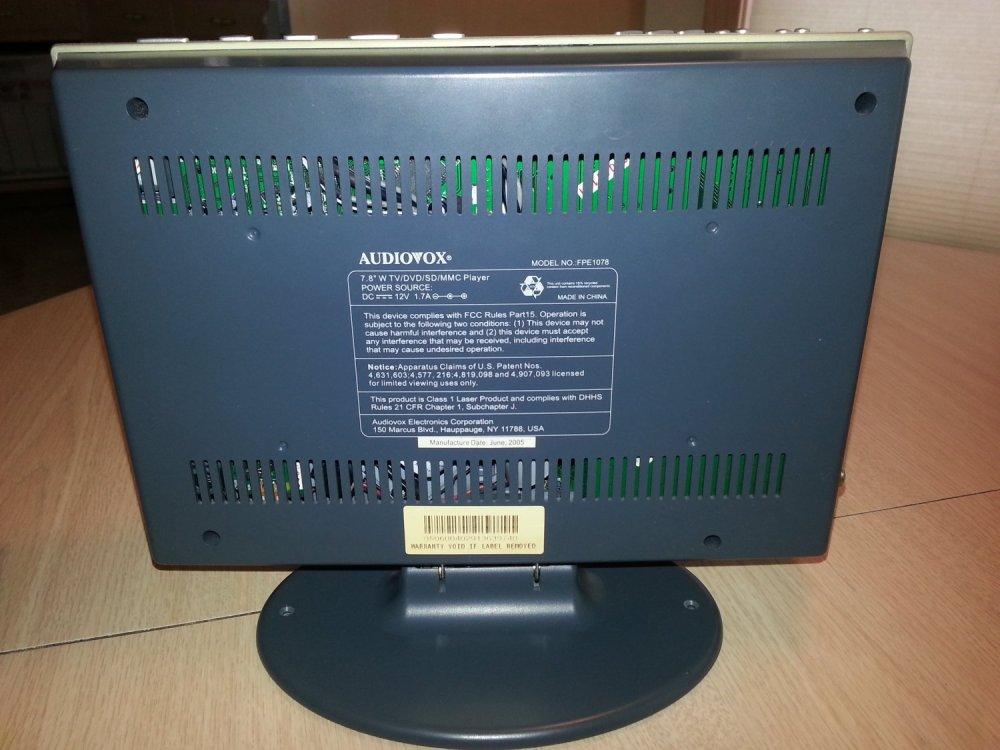 medium resolution of audiovox fpe1078 7 8 inch flat panel 16 9 lcd television dvd player combo sd mmc card slot reader