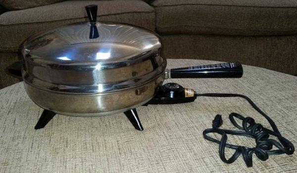 Farberware 310- Electric Skillet Fry Pan-stainless Steel