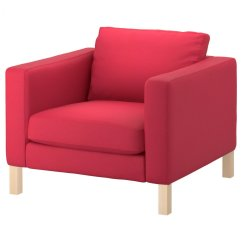 Modern Sofa Covers Online India Loveseat Bed Recliner Ikea Karlstad Armchair Cover In Sivik Pink Red 702 031 41