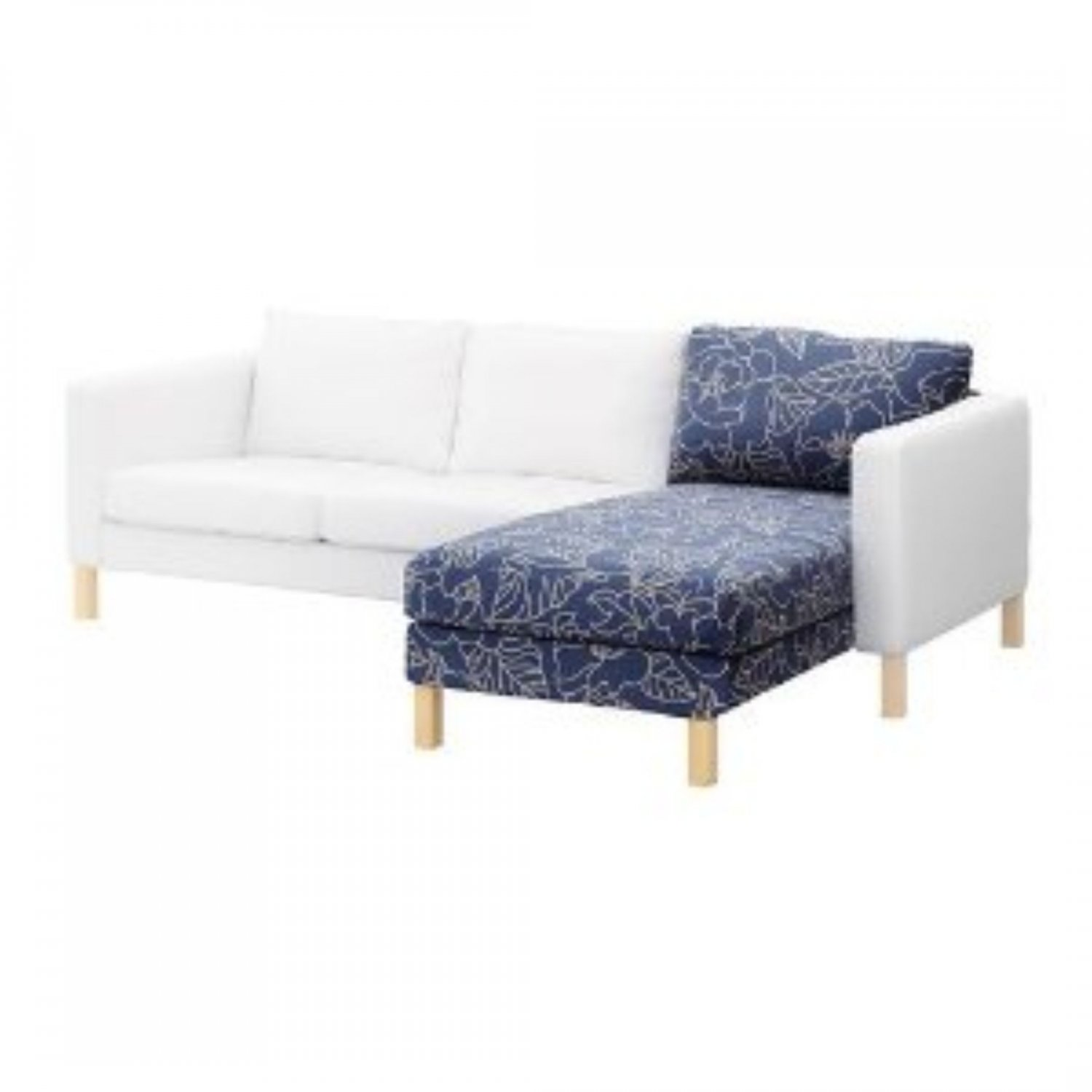 karlstad armchair cover uk plastic chairs for sale ikea chaise longue bladåker blue beige