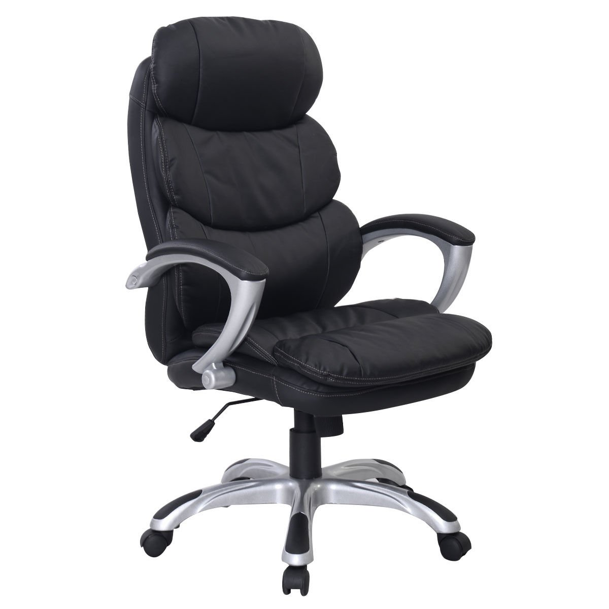 ergonomic desk chair uk hanging ace hardware new pu leather high back office executive