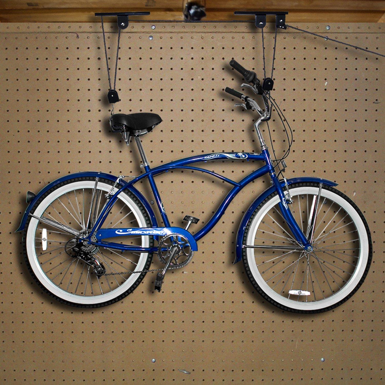Case Of 2 Bike Lifts Hanger Hoist Ceiling Garage Bicycle