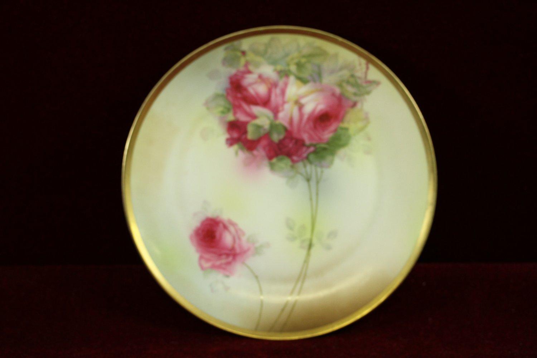 Antique Royal Munich Plate Roses Z S  C Bavaria