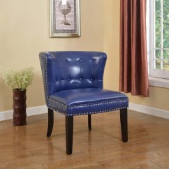 Navy Blue Accent Chairs Outdoor Garden Chair Covers 896  Regal Tufted With Nail Heads