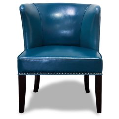 Blue Accent Chairs For Living Room Portable Cloth High Chair Canada 581 Faux Leather Contemporary 2 Pcs