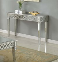 T1840  Sophie Silver Mirrored Living Room/ Hallway Sofa Table