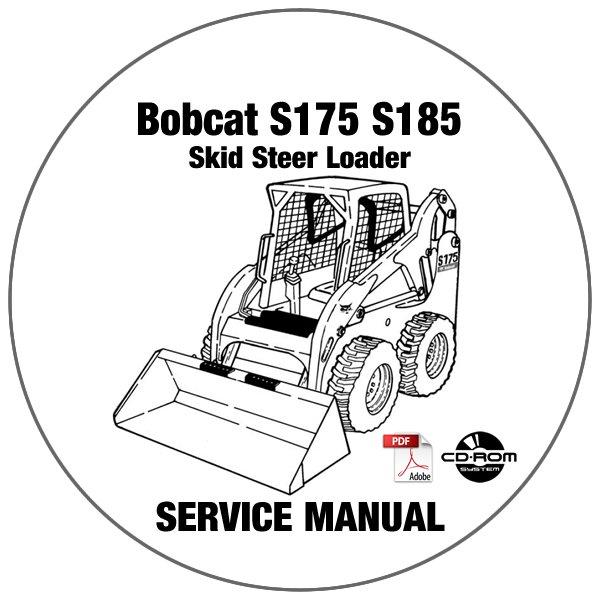 Bobcat Skid Steer Loader S175 S185 Service Manual