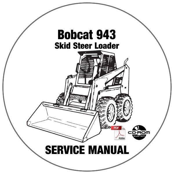 Bobcat Skid Steer Loader 943 Service Repair Manual CD