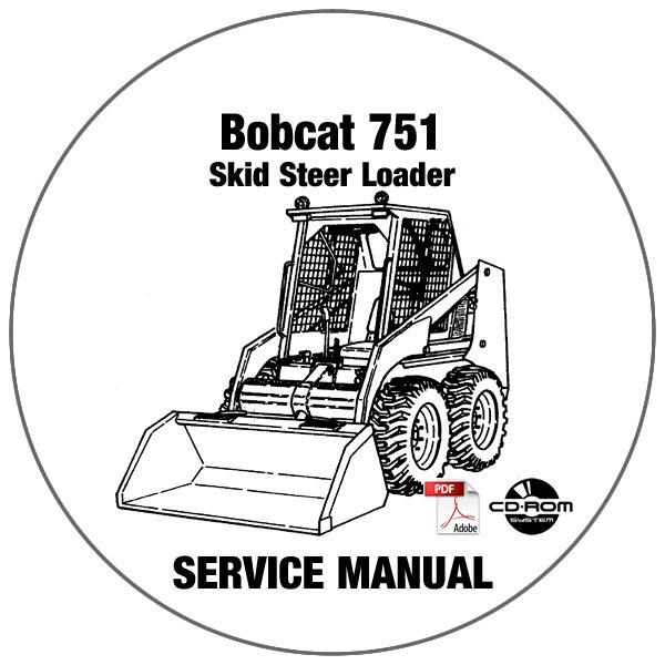 Bobcat Skid Steer Loader 751 Service Manual 515711001