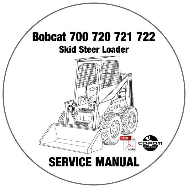Bobcat Skid Steer Loader 700 720 721 722 Service Repair