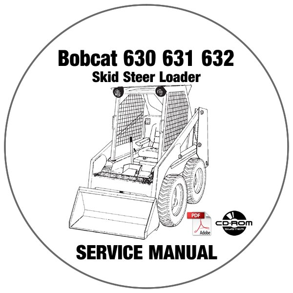 Bobcat Skid Steer Loader 630 631 632 Service Repair Manual CD