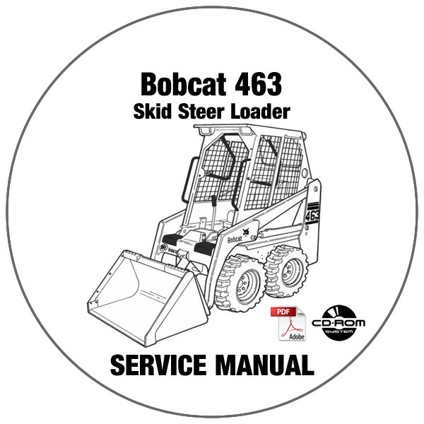 bobcat 553 repair manual skid steer loader 516311001