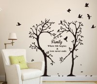 LARGE Family Inspirational Love Tree Wall Art Sticker ...