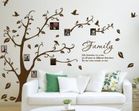 [X Large] Family Photo Tree & Birds Art Vinyl Wall Sticker ...