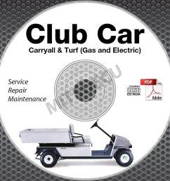 2003 club car carryall turf service manual cd rom gas electric 1 2 6 xrt [ 904 x 904 Pixel ]