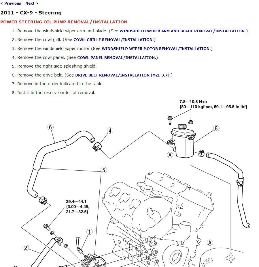 medium resolution of 2011 mazda cx 9 service manual cd rom workshop repair 3 7l mzr v6 cx9 mazda cx 9 engine diagram