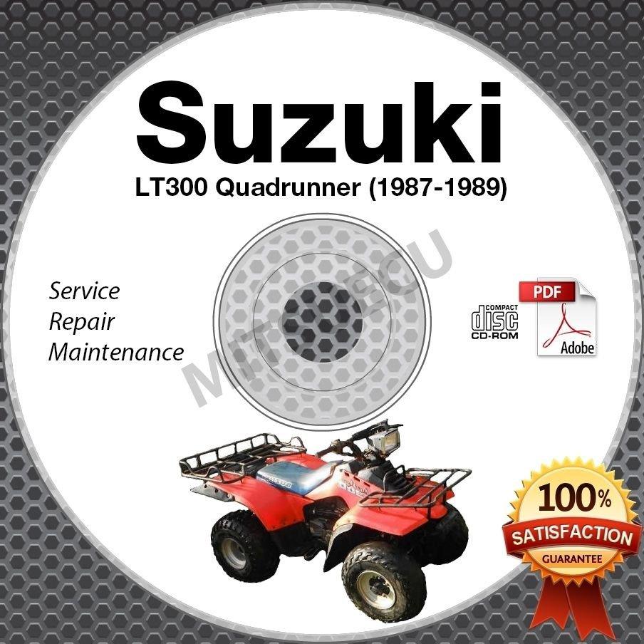 Suzuki Lt300 Quadrunner 300 Service Manual Cd