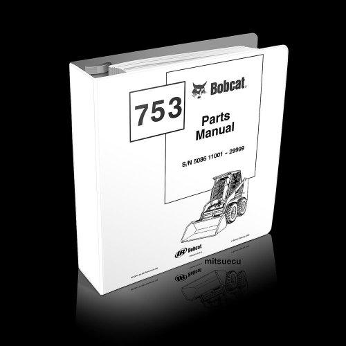 small resolution of bobcat 753 f series skid steer loader parts manual 6570944 9 00 bobcat 753 manual