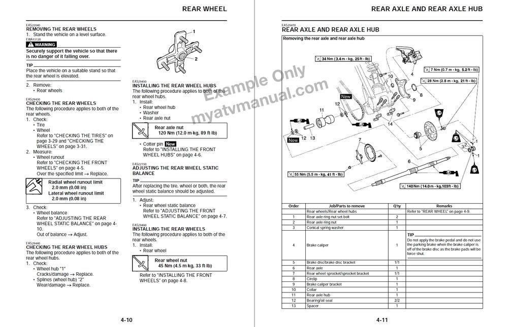 1999-2004 Yamaha BEAR TRACKER YFM250X Service Manual CD