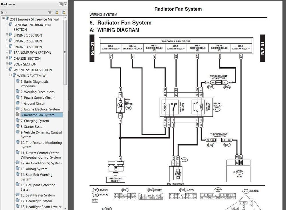 2011 SUBARU IMPREZA WRX & STi Service Manual CD 4-door, 5