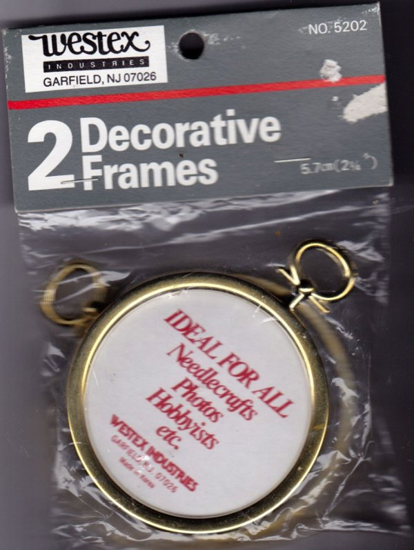 Pack Of 2 Decorative Ornament Frames 2.25 In Crafts