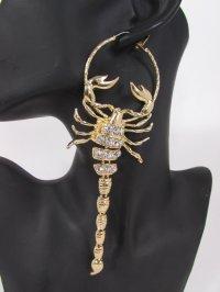 New Women Gold Metal Hoop Long Scorpion Hip Hop Fashion ...