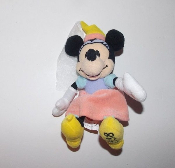 """Disney Store 75th Anniversary Years Minnie Mouse Plush 1938 6"""""""