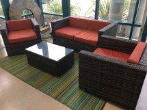 Santa Cruz Outdoor Wicker Sunbrella Patio Furniture Set