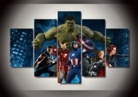 Avengers Group Movie 5pc Framed Oil Painting Wall Decor ...