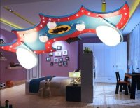 Batman Ceiling Light Deco LED Bedroom Playroom - NEW