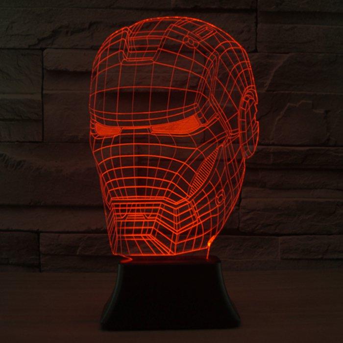 Iron Man 3D LED Light Lamp Tabletop SuperHero Decor 7