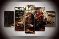 The Walking Dead Premier 5pc Wall Decor Framed Oil ...