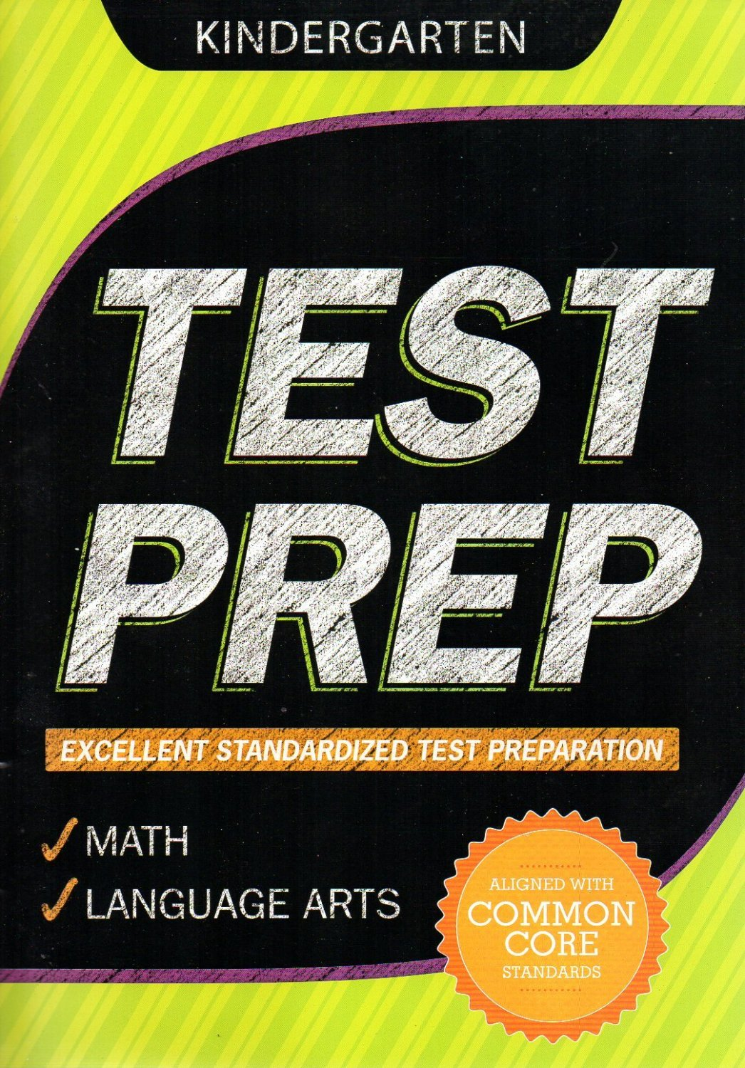 Kindergarten Grade Math Amp Language Arts Test Prep Workbook Aligned With Common Core Standards